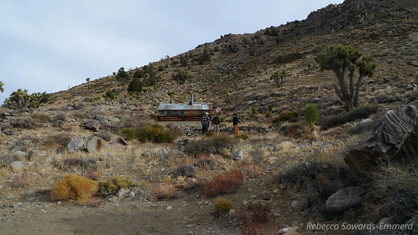 Arriving at our home for the night on the western edge of Death Valley