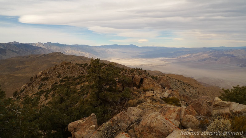 Looking back along the ridge and to the north (Saline Valley). I was having a lot of fun through here.