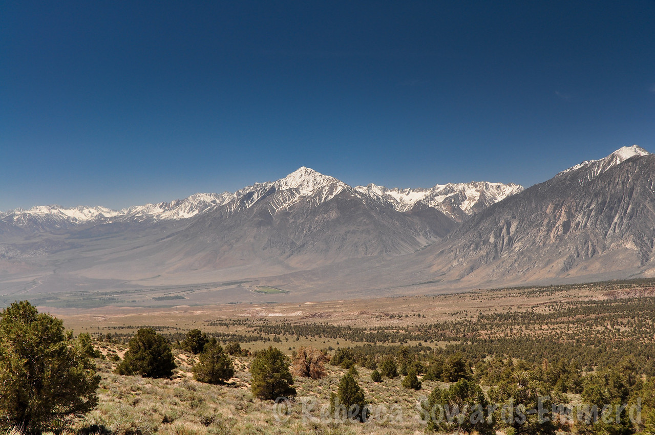 At Casa Diablo mountain we pulled off the road to explore some old mining ruins and enjoy the view. This is Mt tom.
