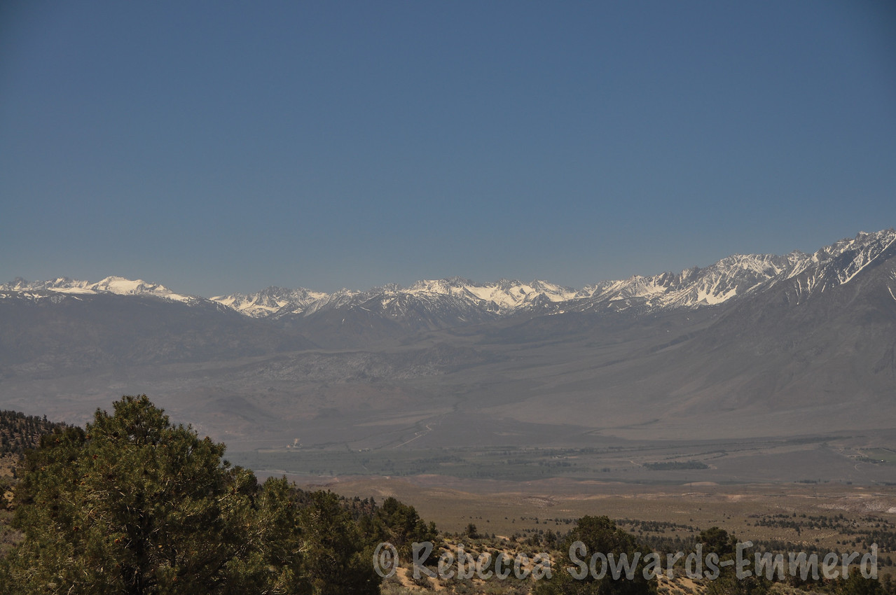 South towards the buttermilks and the evolution region.