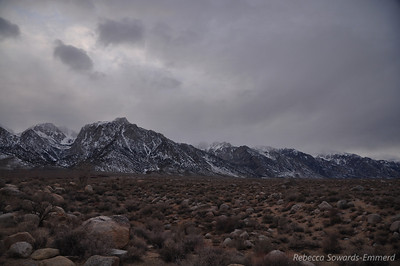 Whitney crest hidden by storms