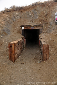 Entrance to the half mile long tunnel