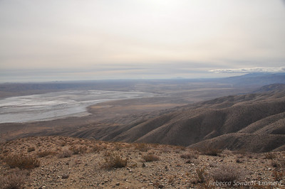 View out over the desert from the exit.