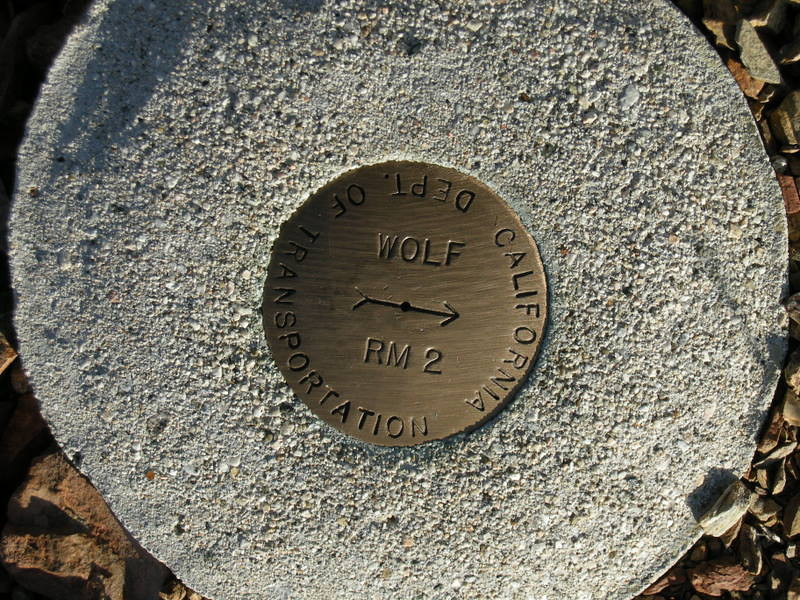 Benchmark at the 'Jarheads' viewpoint
