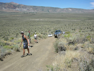 The first 4x4 challenge - the mogul hill on Black Crater