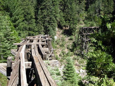 We reach this fallen trestle.  Another dead end!