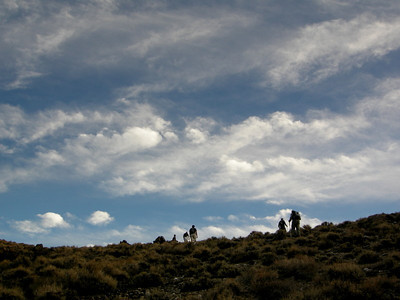 The group attains the ridge that will lead us to the crash site.