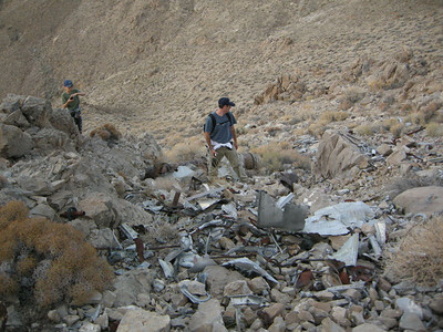 Chris and Shane take in the crash site