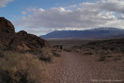 David walking around the Volcanic Tablelands.