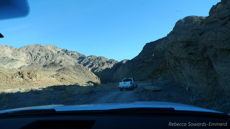 Entering the narrows. There were a few rocks to dodge but it wasn't too bad. Robin, who has driven it before and warned us about how long it would take, was astonished by the quality of the road.