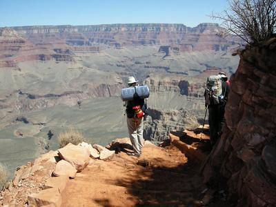 David photographs the canyon below