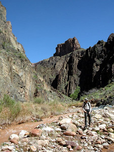 Dave heads on down the canyon
