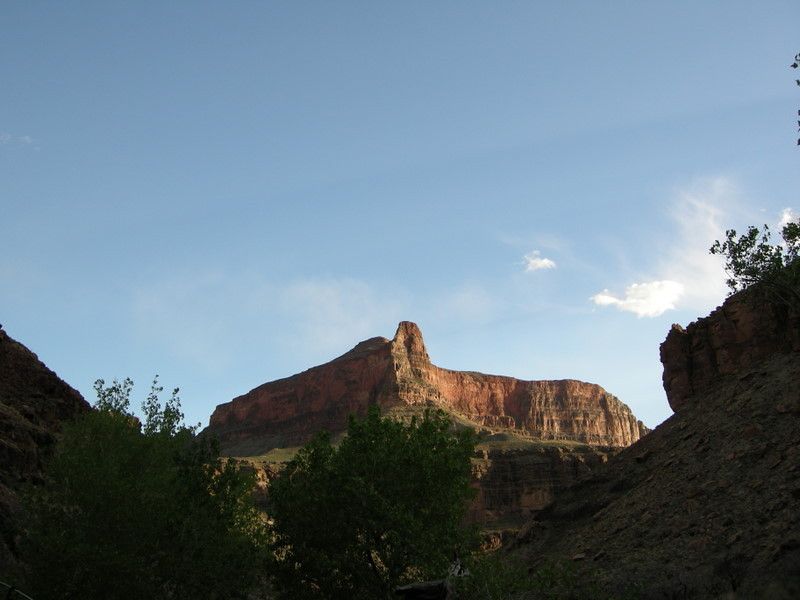 Our evening view when returning to camp - the Howlands Butte