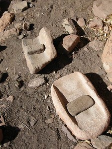 Metates (grinding stones)
