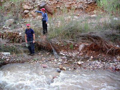 Once again, it's a day of creek crossings