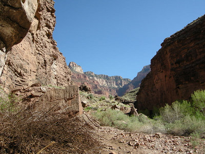 View from the 'front porch'  They farmed the green canyon below