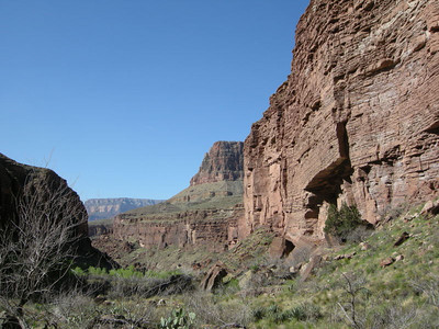 Looking down Clear Creek Canyon from near the ruins site  Time to work our way up the canyon further to Cheyava Falls