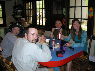 Relax = beer and snickers  Our only appointment for the day is to be back here at 6:30 for the stew dinner