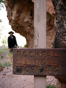 We wandered down to the Colorado before dinner to check out the scenery  Hey Dave, no stopping!