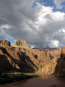 Buttes and Zoroaster after a clearing rain