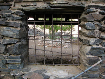'Window' to the cottonwood at the corral