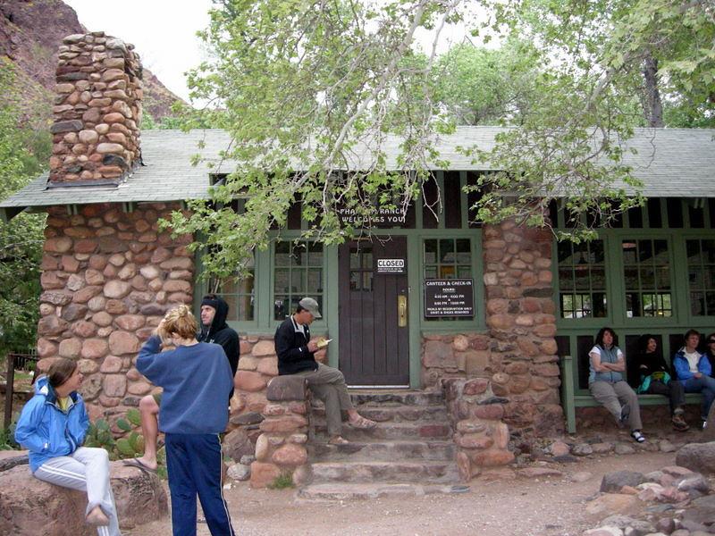Waiting for the dinner bell at Phantom Ranch