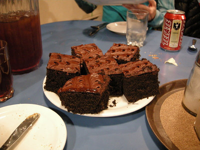 Chocolate cake, drool.