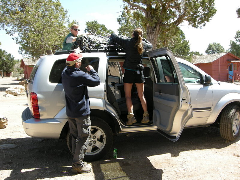 Packing up the durango for the drive to vegas.
