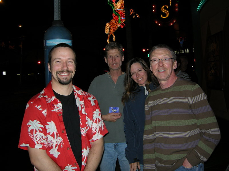 Our happy but exhausted group at ~1 am<br /> <br /> Hey, is John smiling?