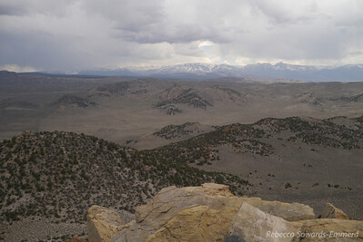 View of the Sierra from the top of Granite.