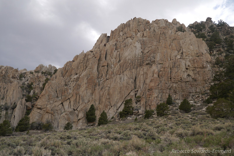I'm surprised this isn't a documented climbing area. Tons of great rock that reminds me of a combination of the buttermilks and the dreamers.