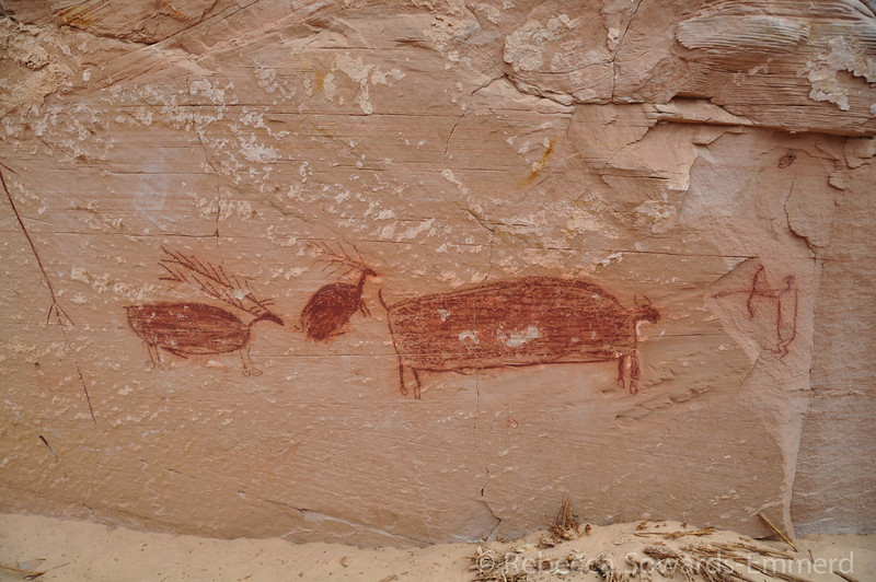 A hunter panel with Elk and a Buffalo
