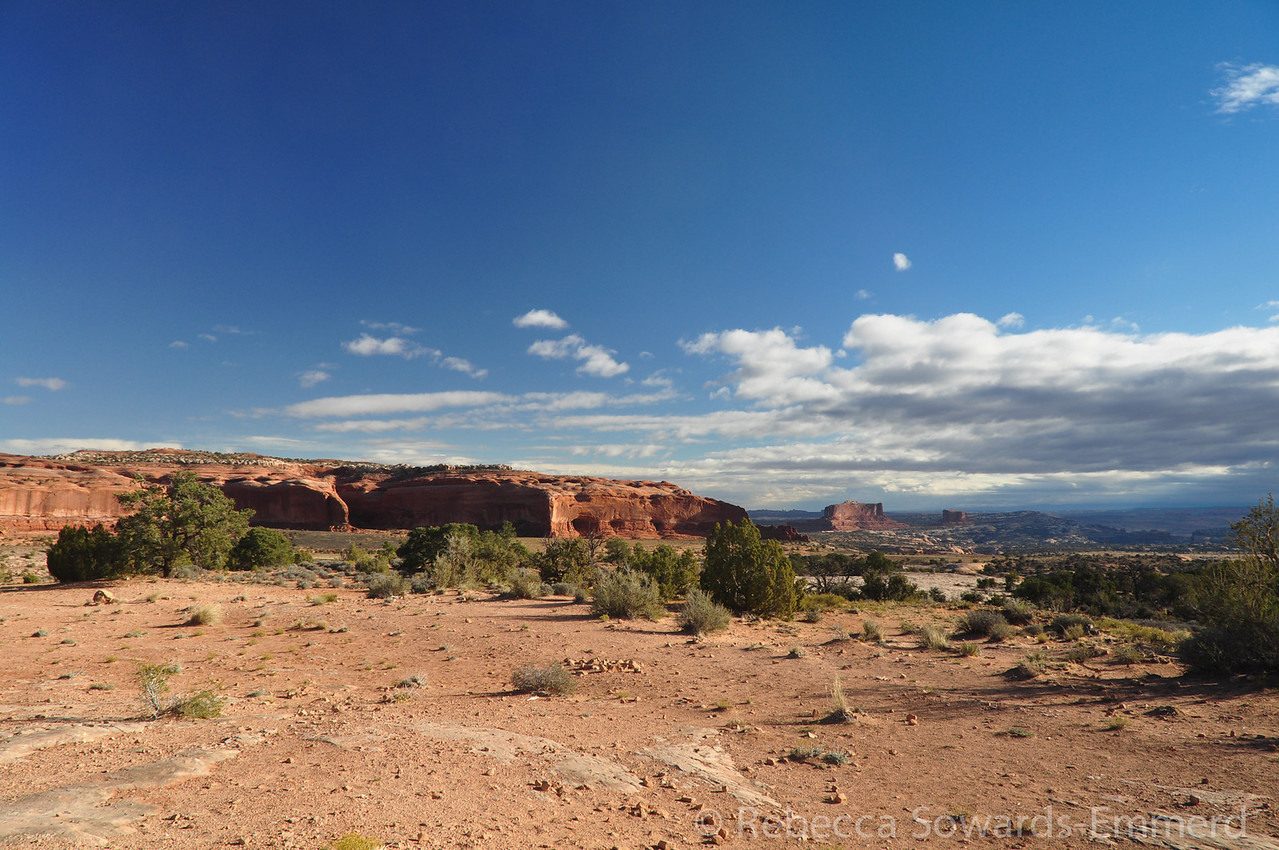 Driving out of Canyonlands Islands in the Sky District to head over to the Horseshoe district.