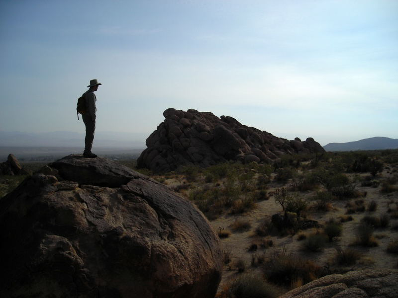 Along the Boyscout Trail<br /> <br /> David enjoying the scenery from atop one of the piles