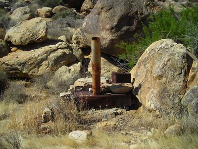 Old stove at John's Camp
