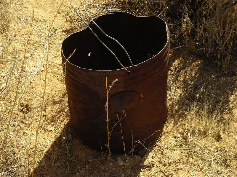 Rusty Bucket<br /> <br /> not much left of John's Camp