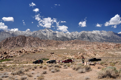 Whitney Crest from the Alabama Hills  We headed to the Alabama hills to scramble around and check out some arches