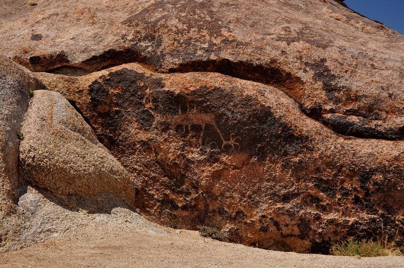 Petroglyph in the Alabama Hills
