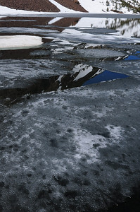 Ice on Ellery Lake