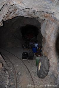 Inside the mine.