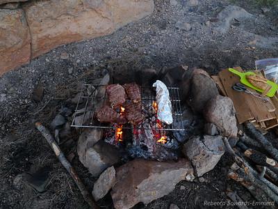 Steaks on the grill nom nom nom nom.