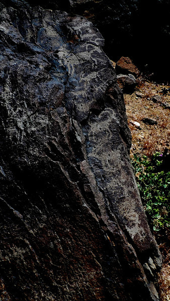Petroglyphs in Centennial Canyon. Bad light midday, but I still took some photos.