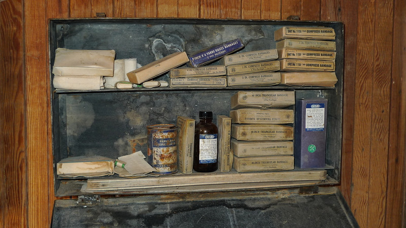 Inside the medicine cabinet