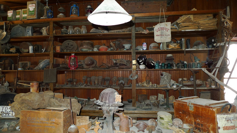 Inside the Cerro Gordo Museum. CG is still privately owned. If you visit make sure to contact the caretaker (Robert). A few $$ to help out won't be turned down, or call ahead and find out what kind of supplies they need (firewood, etc).