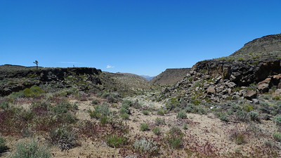 Looking back towards the way we came - view of Cerro Gordo peak far in the distance
