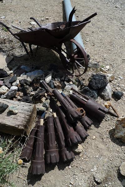 Drill bits at Cerro gordo