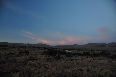 Sunset from Fossil Falls campsite