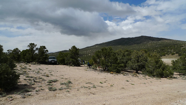 We arrived at camp and got settled in. It was warm and comfortable, but within minutes the wind started to kick up and clouds started blowing in as pictured in this shot from 3:30 pm. We thought this was part of the 'light rain' in the forecast and bundled up as the temperature dropped.