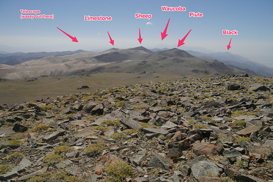 I wanted to hike some of those peaks, but there were a bunch of hunters out and I didn't feel safe going too far astray from where people would be expected to be seen.