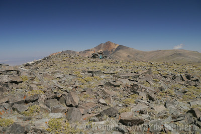 Summit of Barcroft with White Mountain in the distance